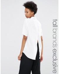 Chemise boutonnée à manches courtes blanche