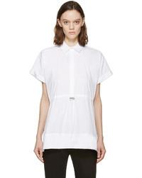 Chemise boutonnée à manches courtes blanche Christopher Kane