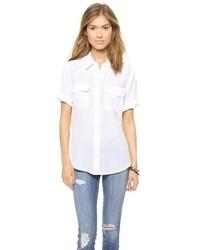 Chemise boutonnée à manches courtes blanche Equipment