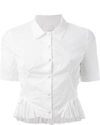 Chemise boutonnée à manches courtes blanche Maison Margiela