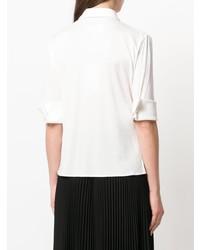 Chemise boutonnée à manches courtes blanche MM6 MAISON MARGIELA
