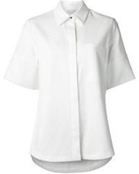Chemise boutonnée à manches courtes blanche Proenza Schouler
