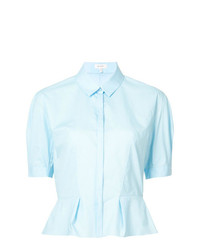 Chemise boutonnée à manches courtes bleu clair DELPOZO
