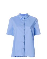 Chemise boutonnée à manches courtes bleu clair Twin-Set
