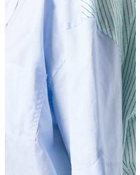 Chemise boutonnée à manches courtes bleue claire Y/Project