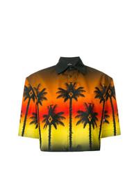 Chemise boutonnée à manches courtes imprimée multicolore Marcelo Burlon County of Milan