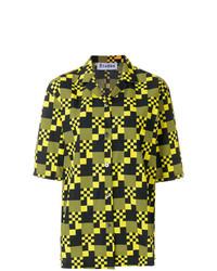 Chemise boutonnée à manches courtes multicolore Études