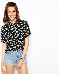 Chemise boutonnée à manches courtes