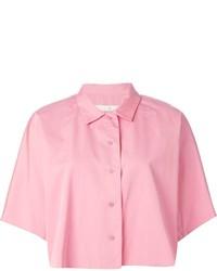 Chemise boutonnée à manches courtes rose Golden Goose Deluxe Brand