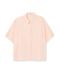 Chemise boutonnée à manches courtes rose Jil Sander