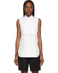 Chemise boutonnée sans manches blanche 3.1 Phillip Lim
