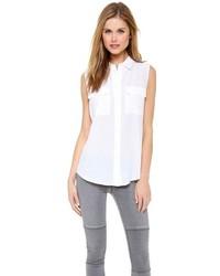 Chemise boutonnée sans manches blanche Equipment