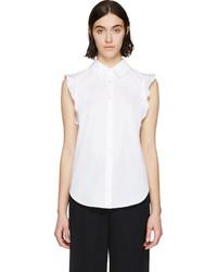 Chemise boutonnée sans manches blanche Stella McCartney