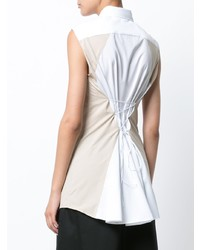 Chemise boutonnée sans manches blanche Tome