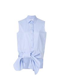 Chemise boutonnée sans manches bleu clair Victoria Victoria Beckham