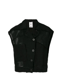 Chemise boutonnée sans manches noire Lost & Found Rooms