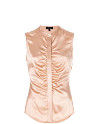 Chemise boutonnée sans manches rose Theory