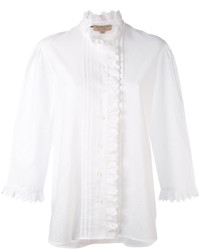 Chemise brodée blanche Burberry