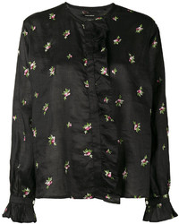 Chemise brodée noire Isabel Marant