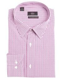 Chemise de ville à carreaux blanc et rouge
