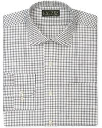 Chemise de ville à carreaux blanche et noire