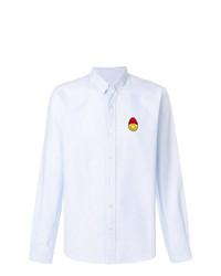 Chemise de ville à carreaux bleu clair AMI Alexandre Mattiussi