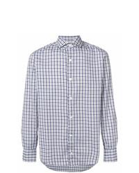 Chemise de ville à carreaux bleu clair Eleventy