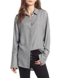 Chemise de ville à carreaux grise