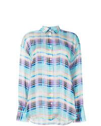 Chemise de ville à carreaux multicolore MSGM