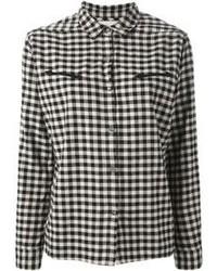 Chemise de ville à carreaux noire et blanche Maison Scotch