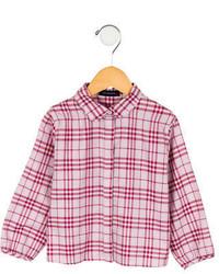 Chemise de ville à carreaux rose