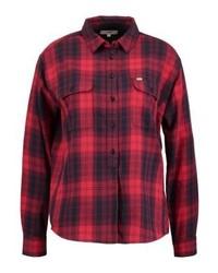 Chemise de ville à carreaux rouge Lee
