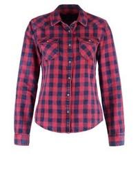Chemise de ville à carreaux rouge LTB