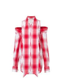 Chemise de ville à carreaux rouge Monse