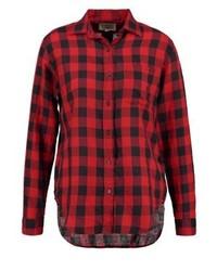 Chemise de ville à carreaux rouge Ralph Lauren