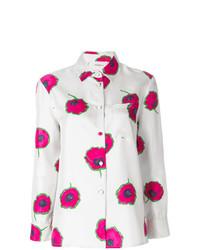 Chemise de ville à fleurs blanche La Doublej