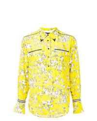 Chemise de ville à fleurs chartreuse Rag & Bone