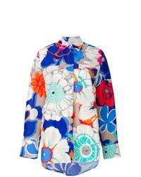 Chemise de ville à fleurs multicolore MSGM