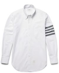 Chemise de ville à rayures horizontales blanche