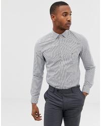 Chemise de ville à rayures verticales blanc et bleu marine Calvin Klein