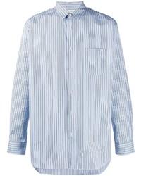 Chemise de ville à rayures verticales blanc et bleu Comme Des Garcons SHIRT