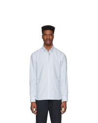 Chemise de ville à rayures verticales blanc et bleu Eidos