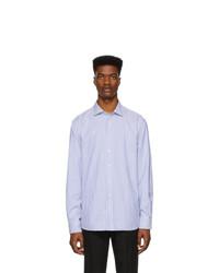 Chemise de ville à rayures verticales blanc et bleu Ralph Lauren Purple Label