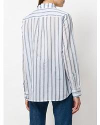 Chemise de ville à rayures verticales blanc et bleu Shirtaporter