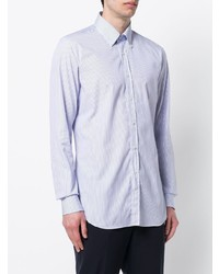 Chemise de ville à rayures verticales blanche et bleue Xacus