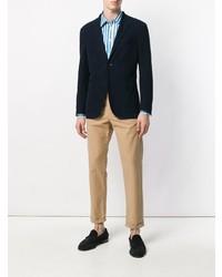 Chemise de ville à rayures verticales blanche et bleue Department 5