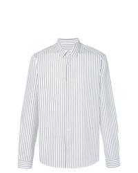 Chemise de ville à rayures verticales blanche et noire AMI Alexandre Mattiussi