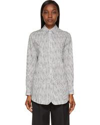 Chemise de ville à rayures verticales blanche et noire Rag & Bone