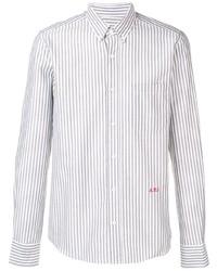 Chemise de ville à rayures verticales blanche Ami Paris