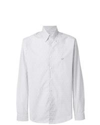 Chemise de ville à rayures verticales blanche Etro